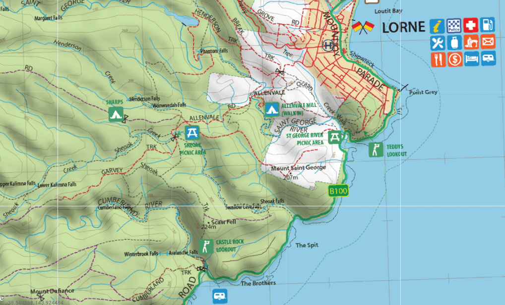 Mud Map Otways map available to use on Mud Map Apps for Apple and Android