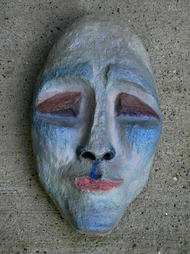 SID, Death Mask, Papier-mâché sculpture