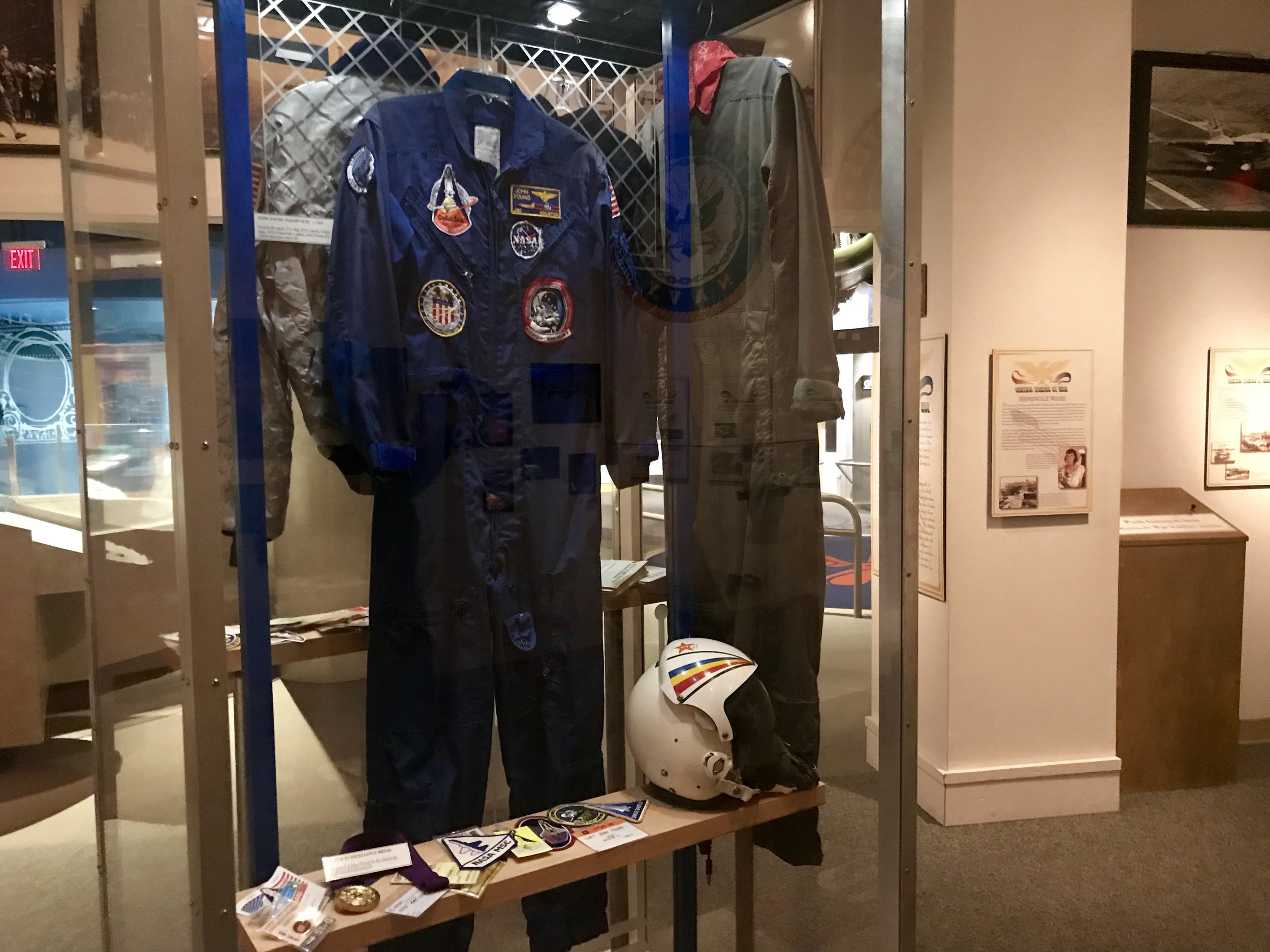 The suit of John Young (more than just the name of a Parkway!) was an American astronaut, naval officer and aviator, test pilot, and aeronautical engineer.