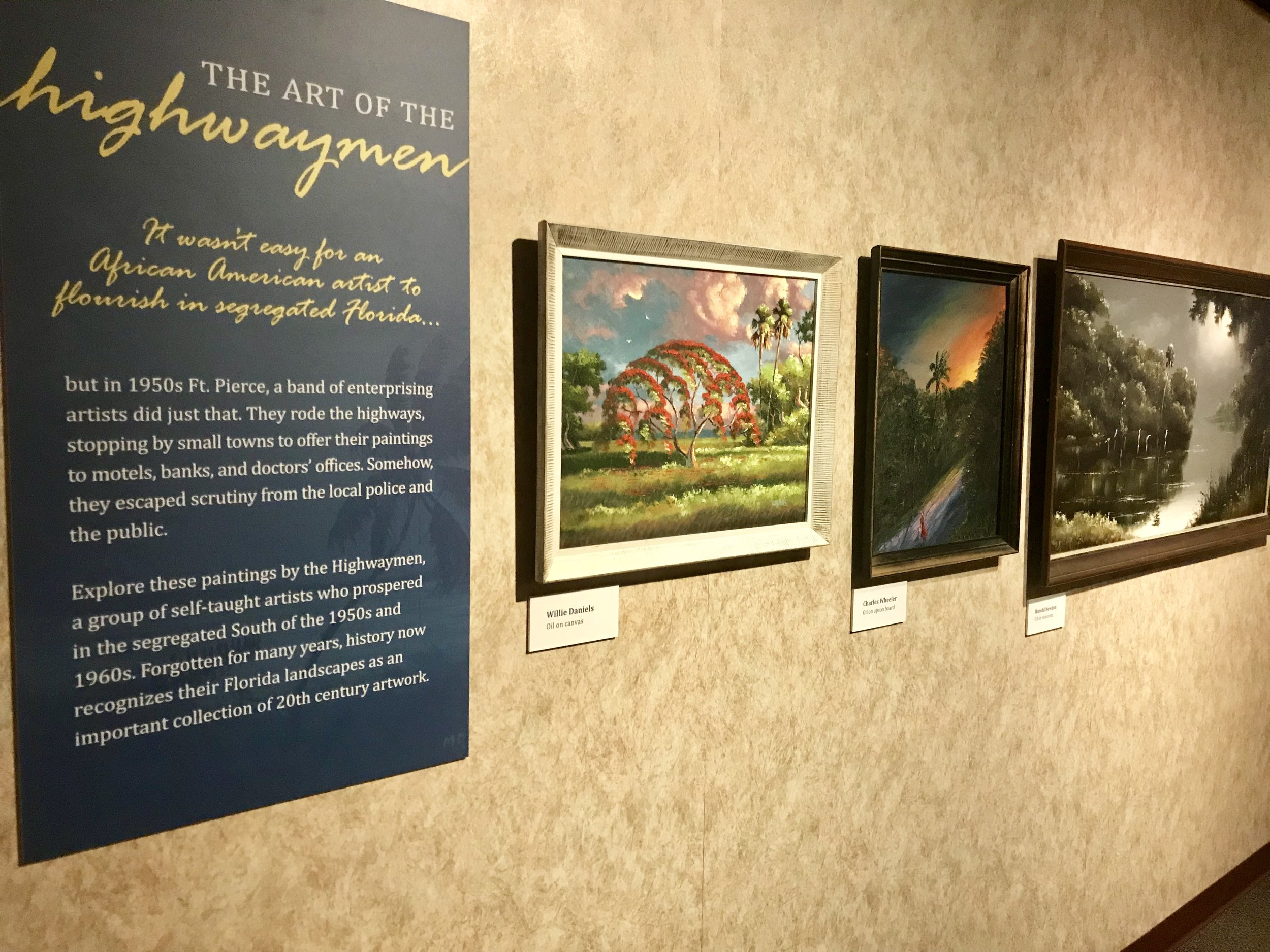 The second floor has a few Highwaymen paintings, as well as a wall of replicas by children.