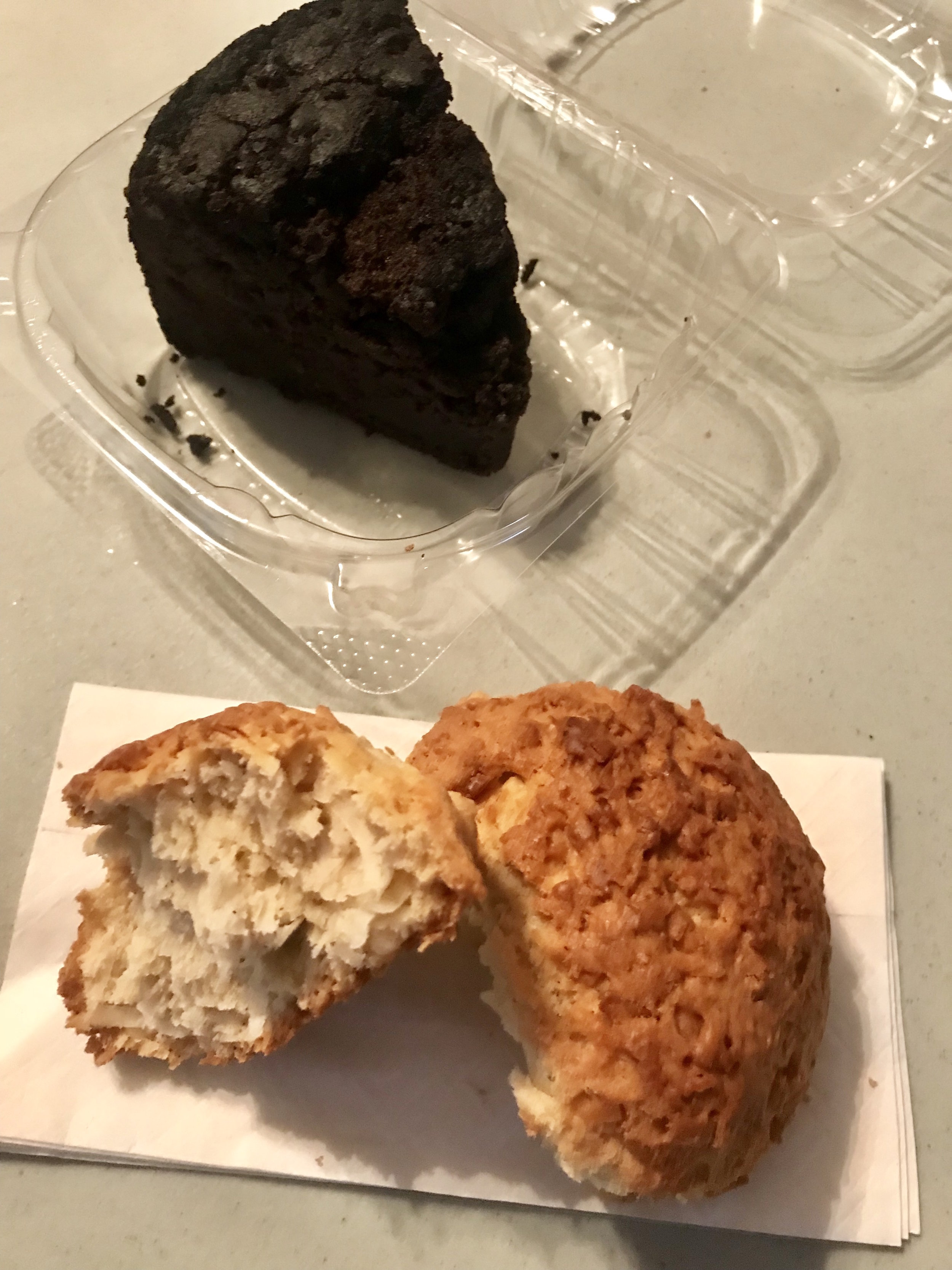 Rum and rock cake from Golden Krust.