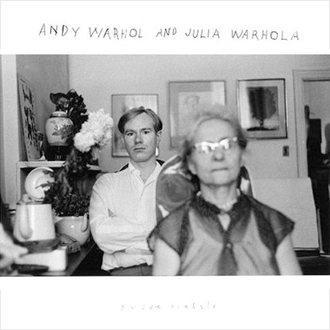 Andy Warhol and his Mother Julia Warhola, 1958. Gelatin silver print with hand applied text.