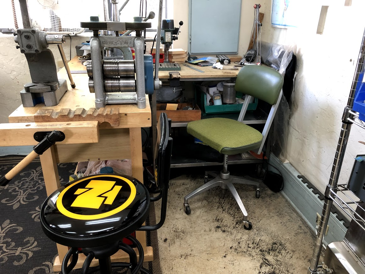 jewelers workbench and tools