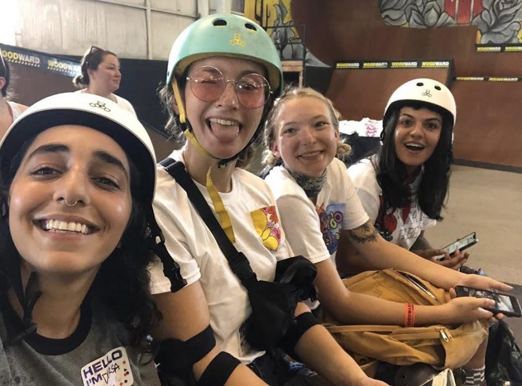 Making new friends at Moxi's Roller Skate Camp. (Photo: Dorsa Vaziri)