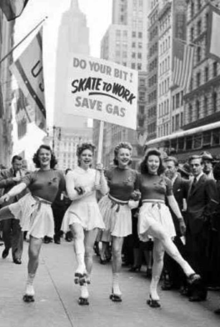 Do your part for WWII, Skate to work! 1940