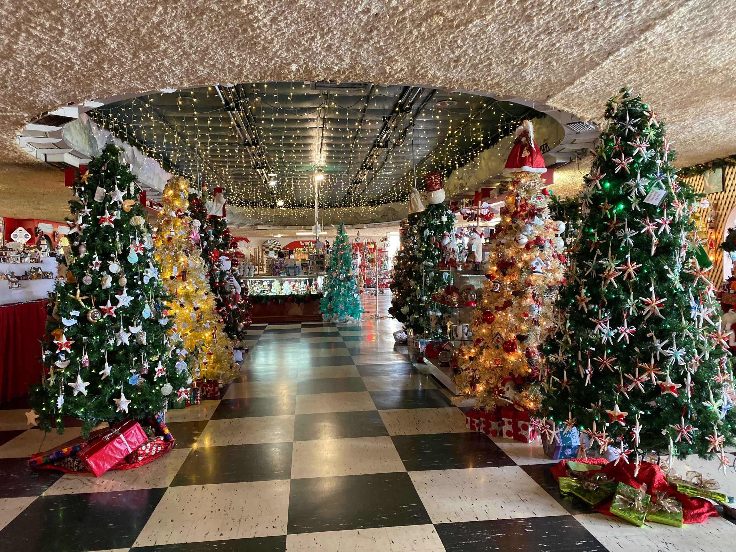 The Christmas house has rooms full of trees and don't miss the photo op with Santa around the corner.