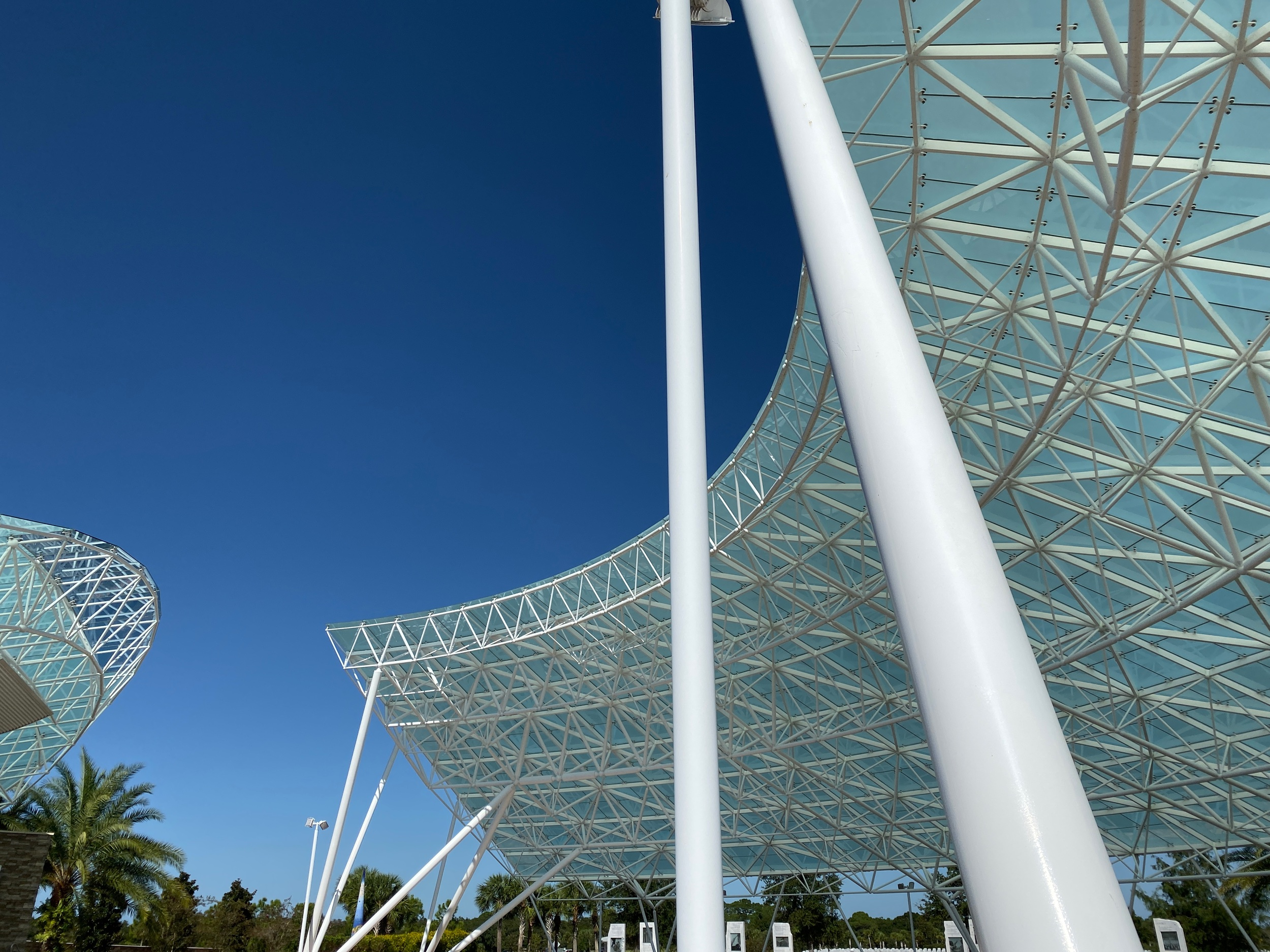 20,800 sq foot glass covering