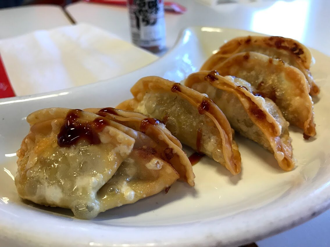 Fake meat gyoza for the gods.