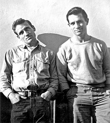 The real Moriarty and Paradise, aka Neal Cassidy and Jack Kerouac
