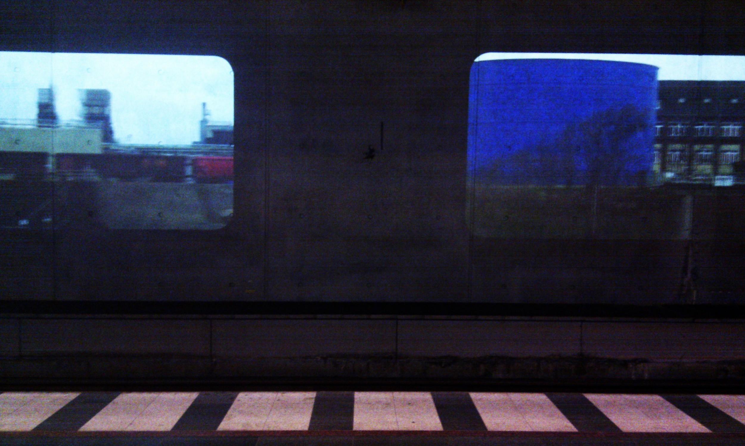 Platform projection at Malmo station