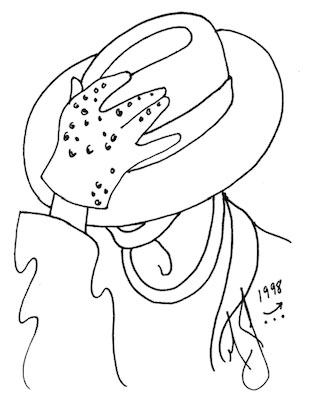 A self-portrait by Michael Jackson from his 1988 Moonwalk  autobiography, looking 10 years into the future