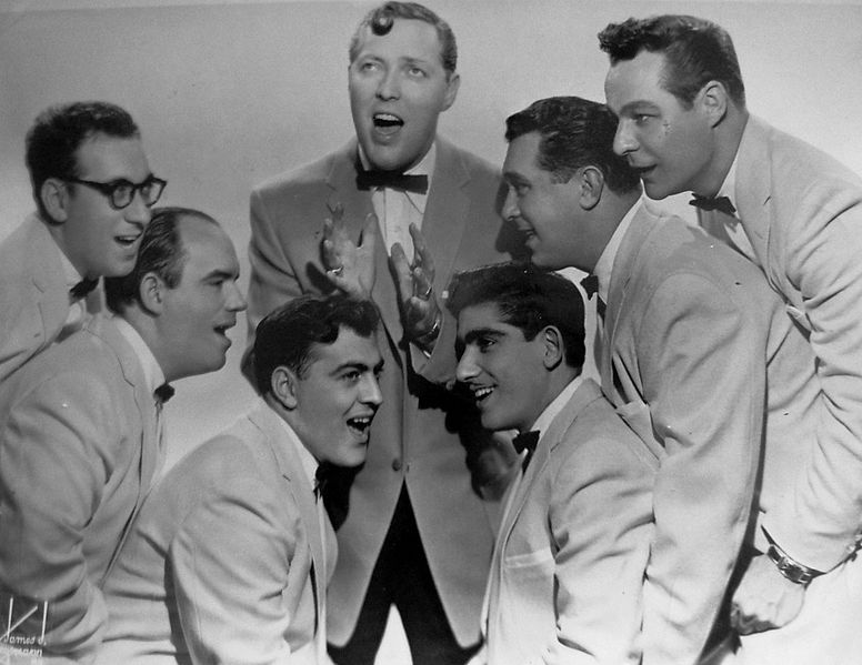Bill Haley & The Comets in 1956, riding high in the charts after the second coming of 'Rock Around the Clock'