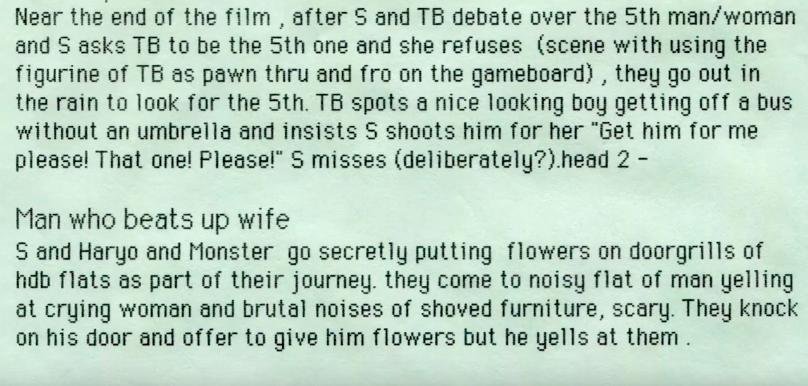 An excerpt from Tan's original Shirkers script