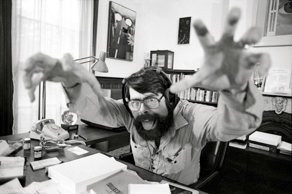 Stephen King in his office in 1982
