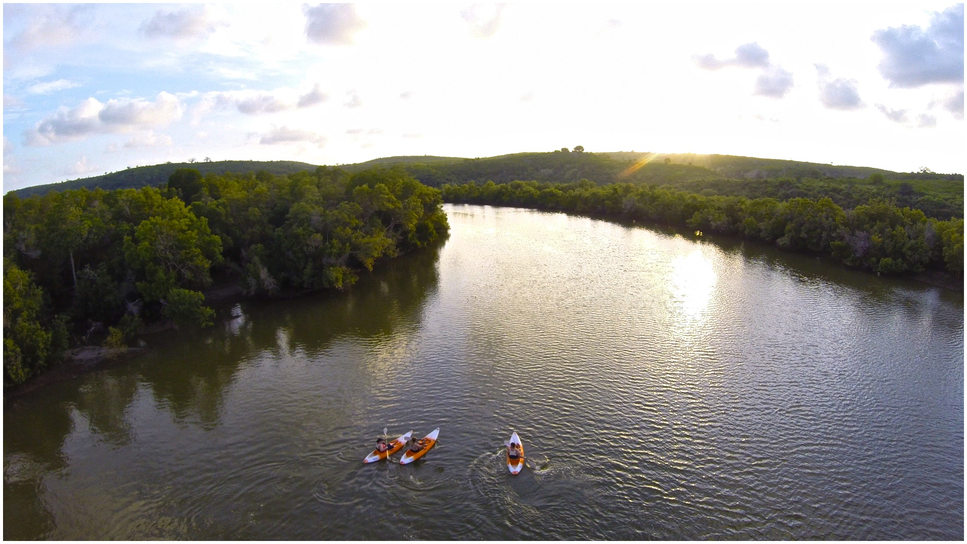 Kayak in the mangrove channels west of Kilifi.