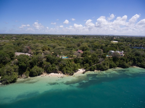 View of Creek View House from above Kilifi Creek