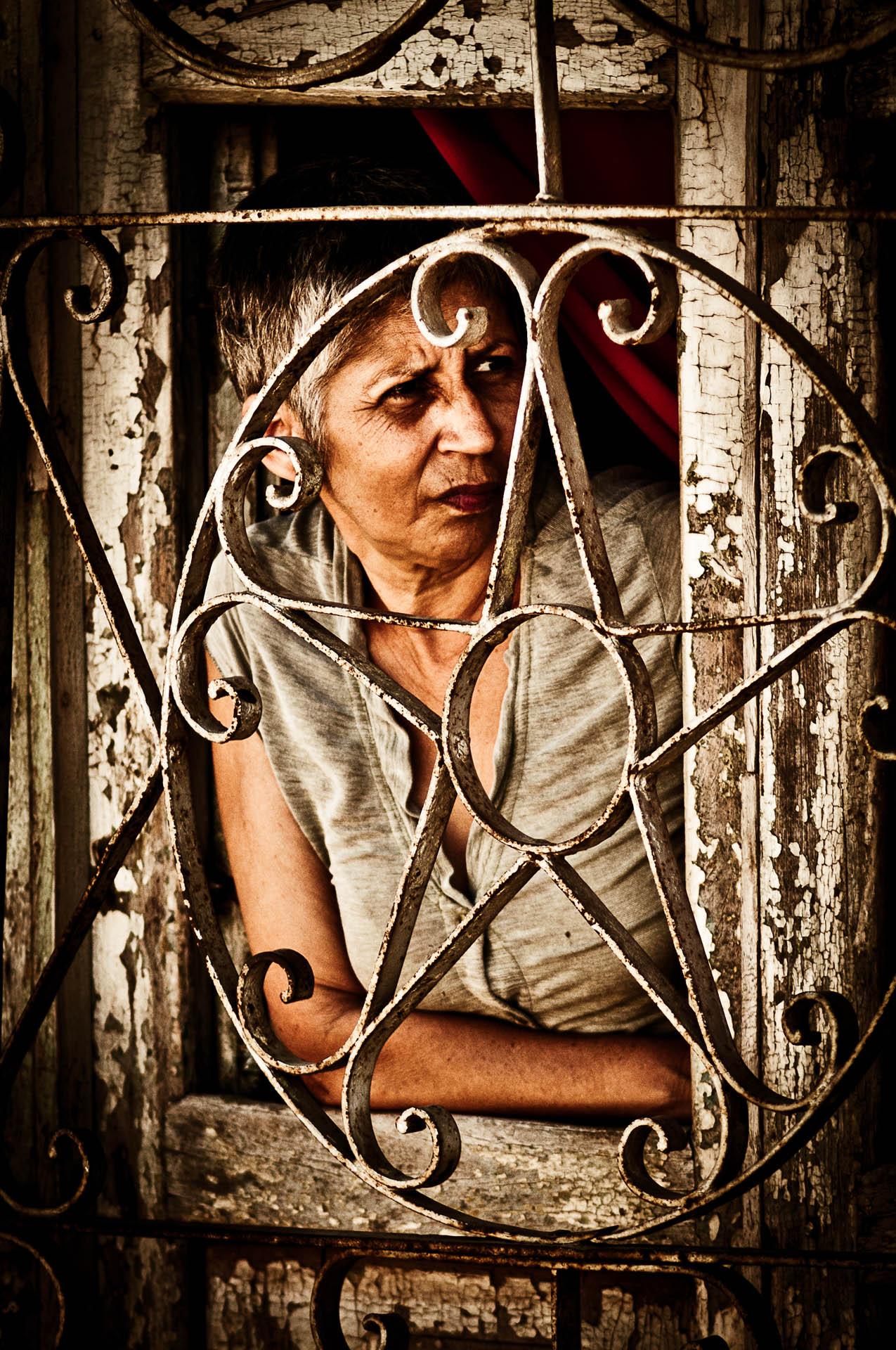 Ne, to není vězení. Kubánci mají prostě všechno zamřížované, asi aby jim to nic nikdo nevzal. Ale vypadá to, že jim mříže nevadí. Trinidad.