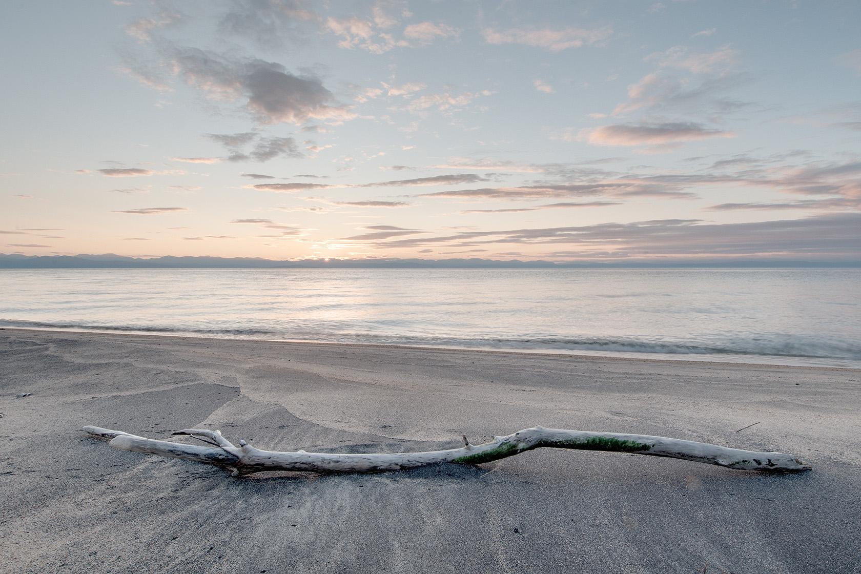 Pláž Širildi,naše první noc na břehu Bajkalského moře