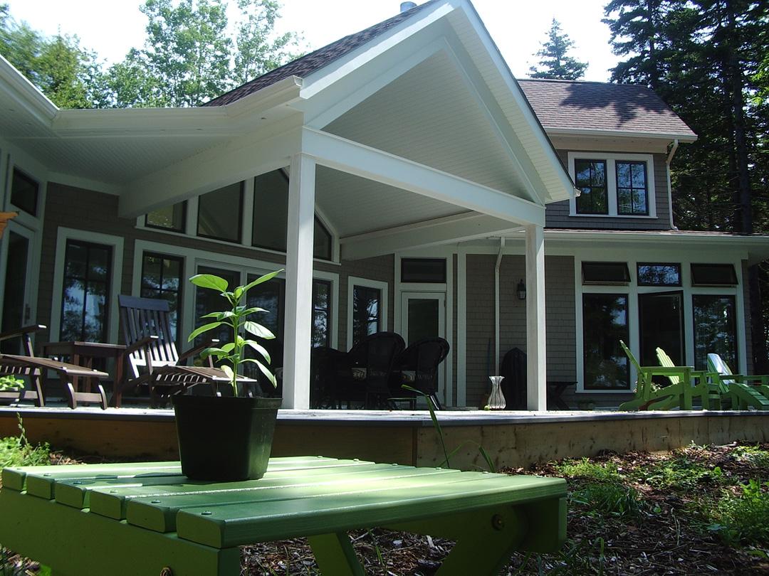 The south facing porch