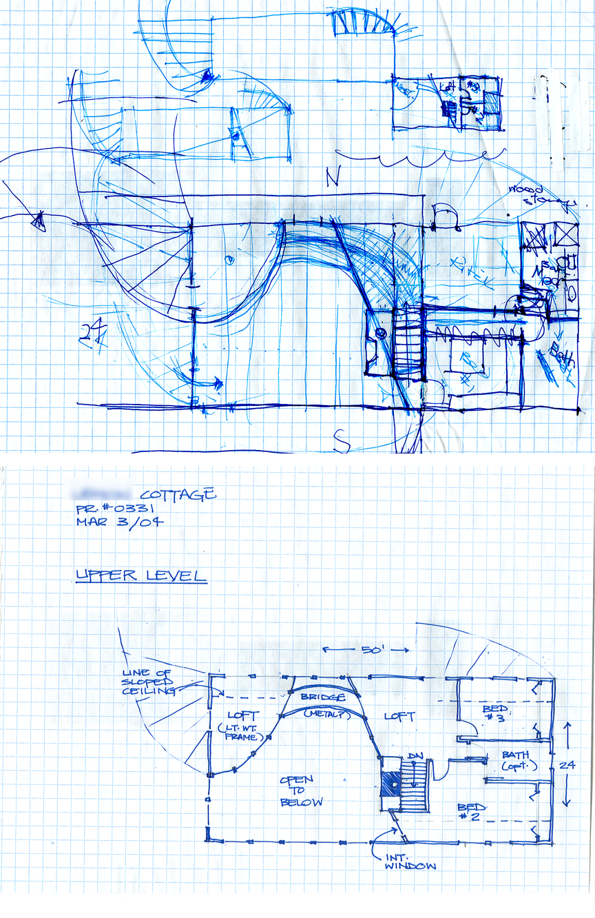 Developtment sketches.