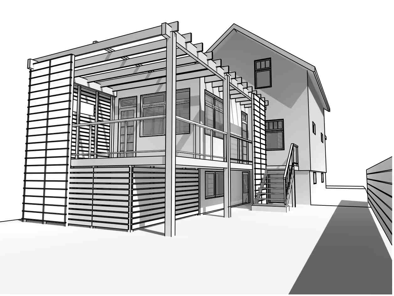 Perspective Drawings help the client visualize the project before its built.