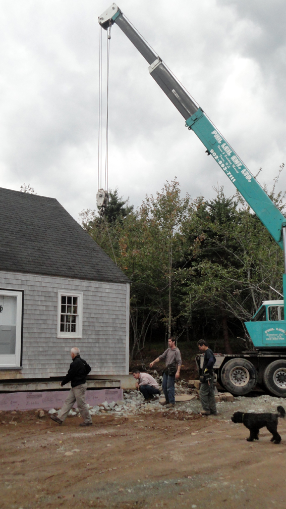 House about to be set down