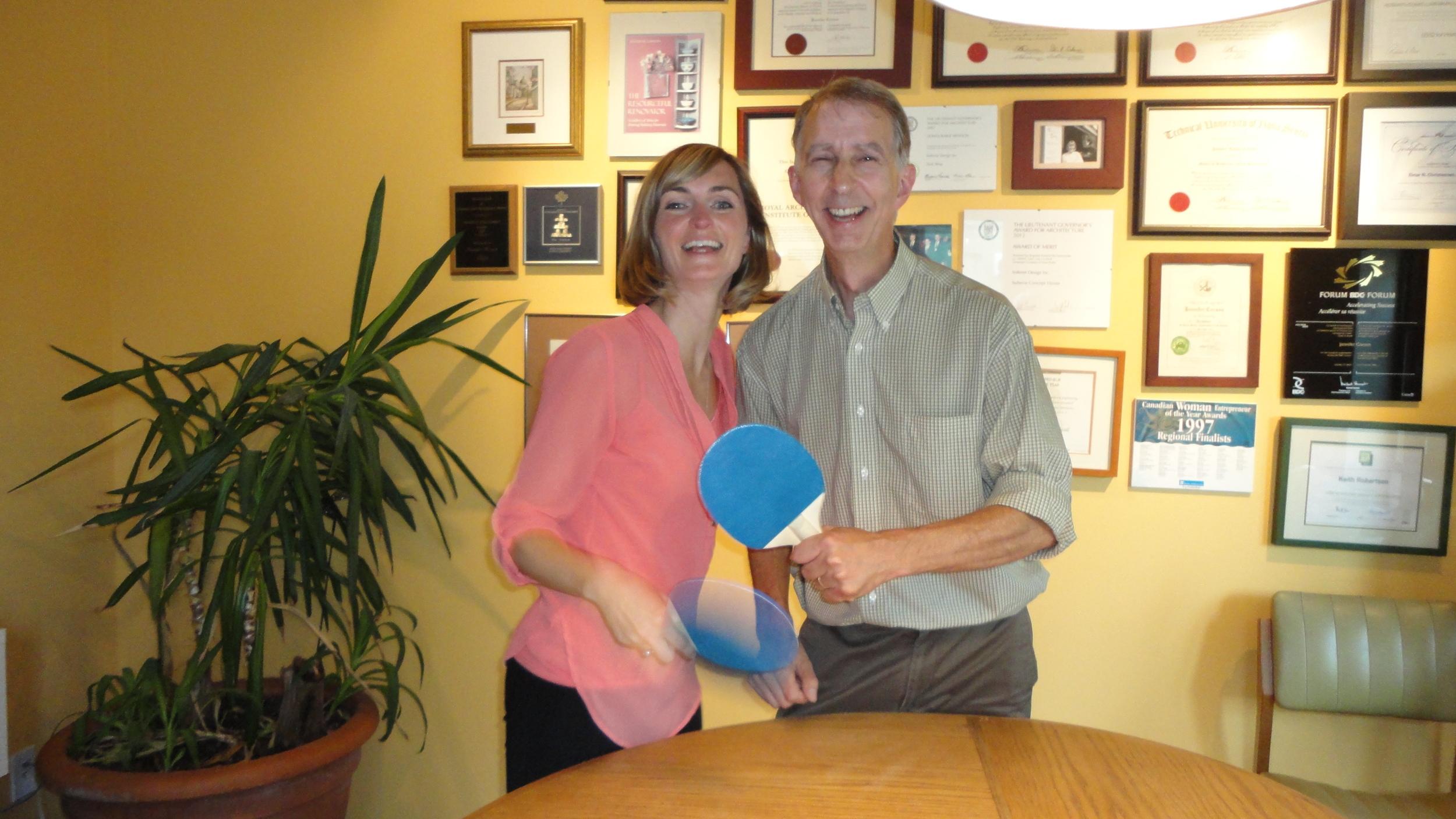 Tina Smith and Keith Robertson