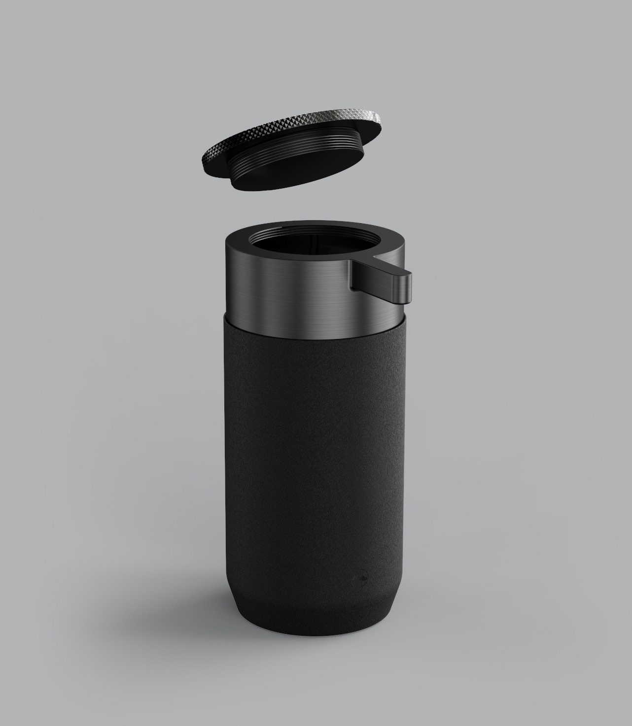 Soap dispenser – innovative mechanism allows for a large refill cap and no messy straw