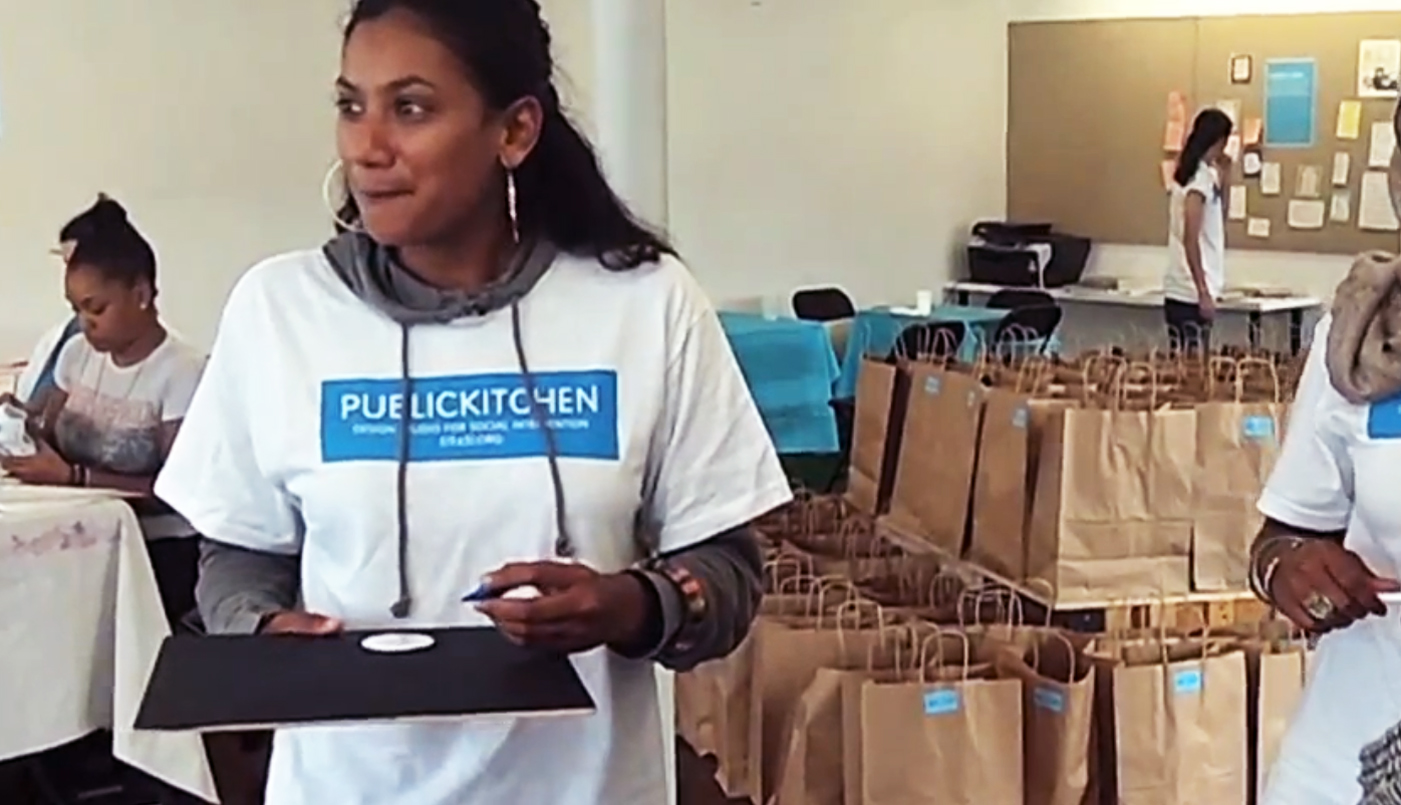 Participant in her PUBLIC KITCHEN t-shirt.