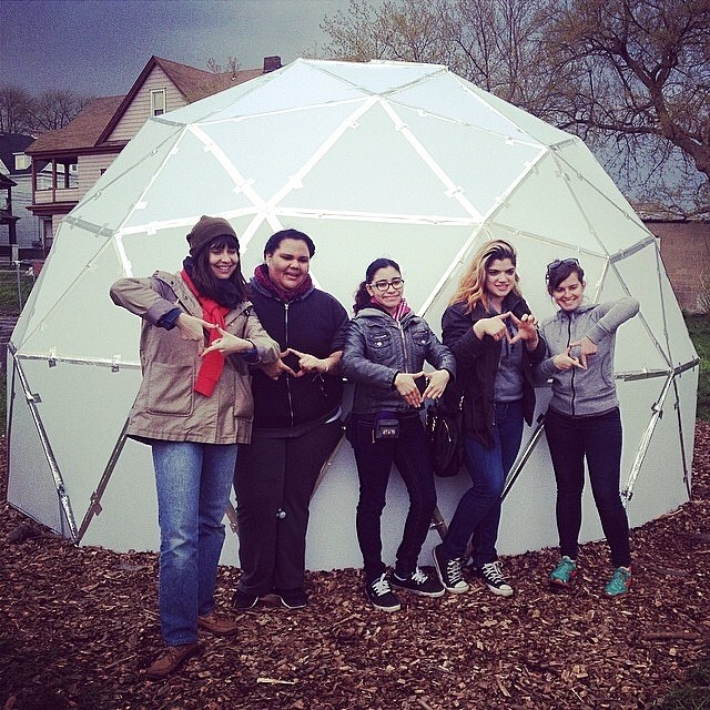 Memories! So fun to have #Hostos students up at #Syracuse this past weekend to party with #wildercompound at the #geodome!