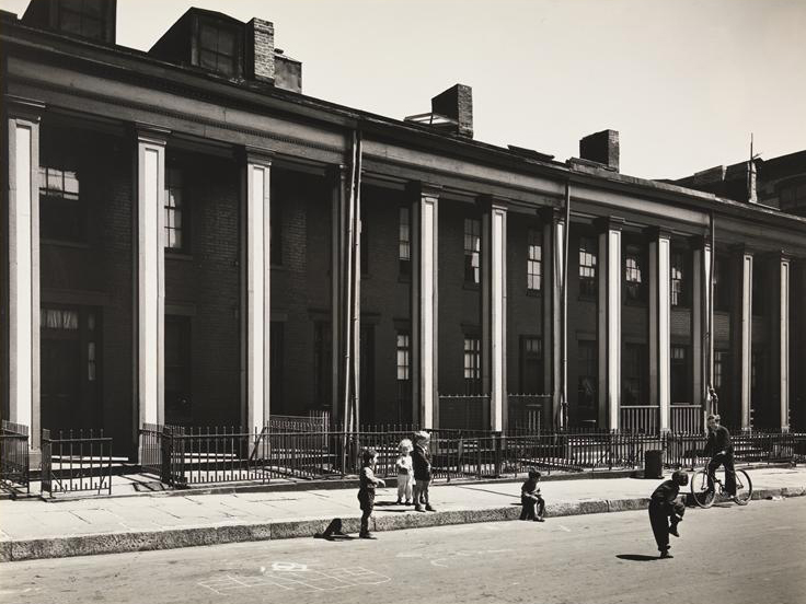 43-49 Willow Pl. in 1936   Photo by  Berenice Abbott