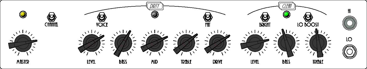 Overdriven Clean Shuffle Rhythm Settings