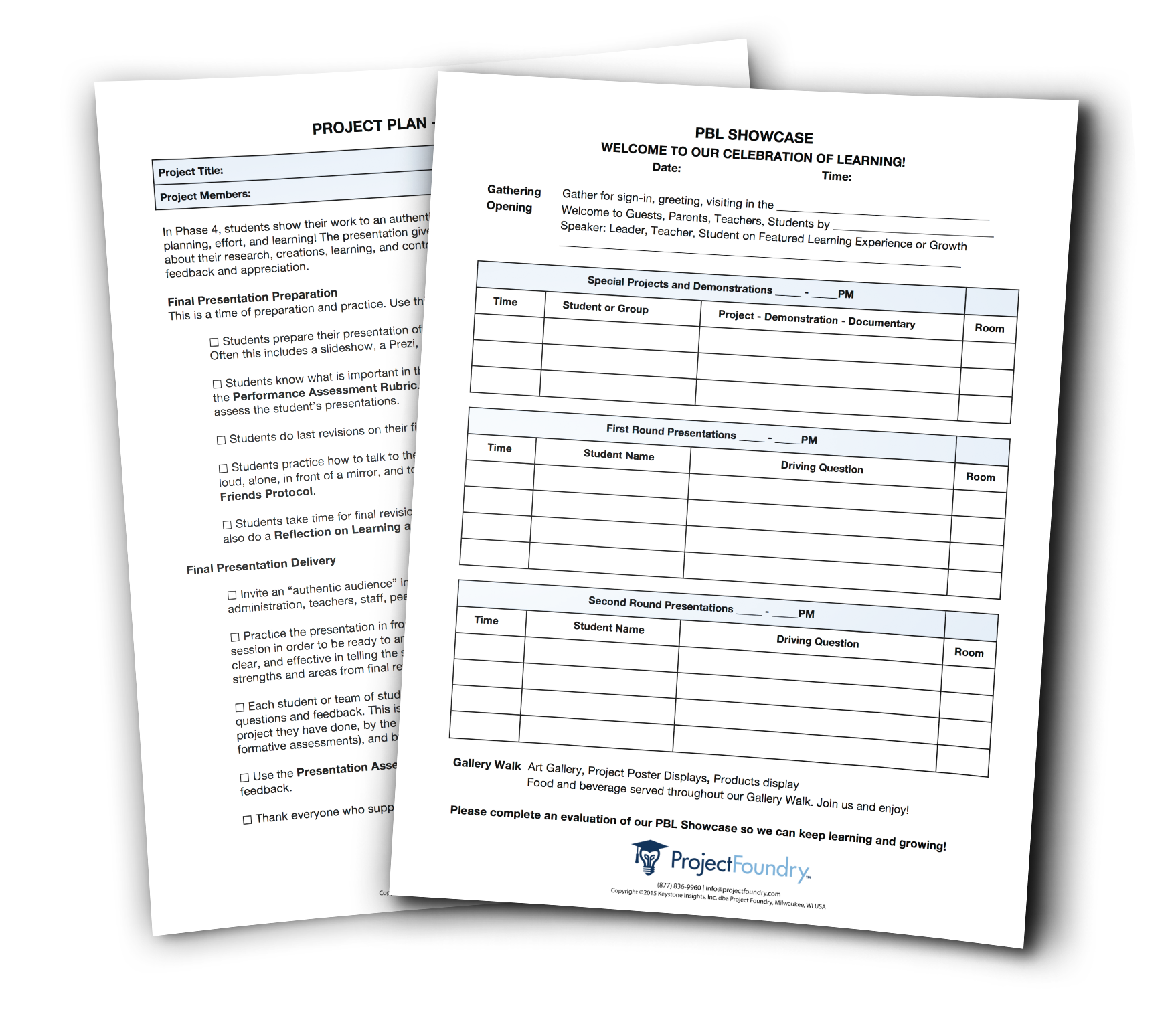 Showcase Evaluation Form Example