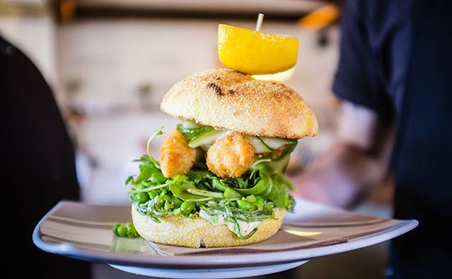 Try the fish sandwich!