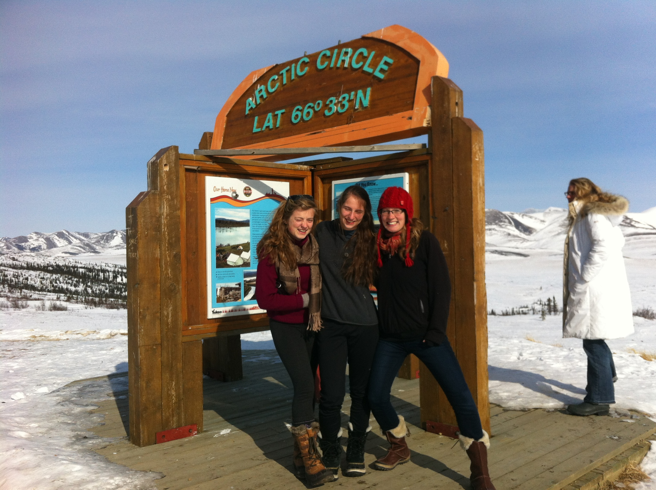 Chilling at the Arctic Circle...