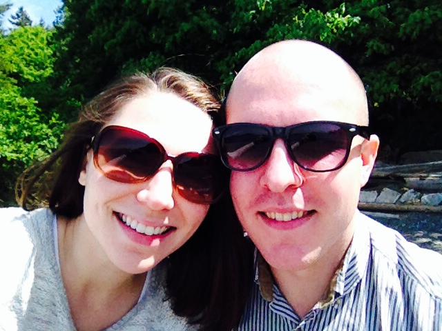 Megan Clark with her husband, Dave.