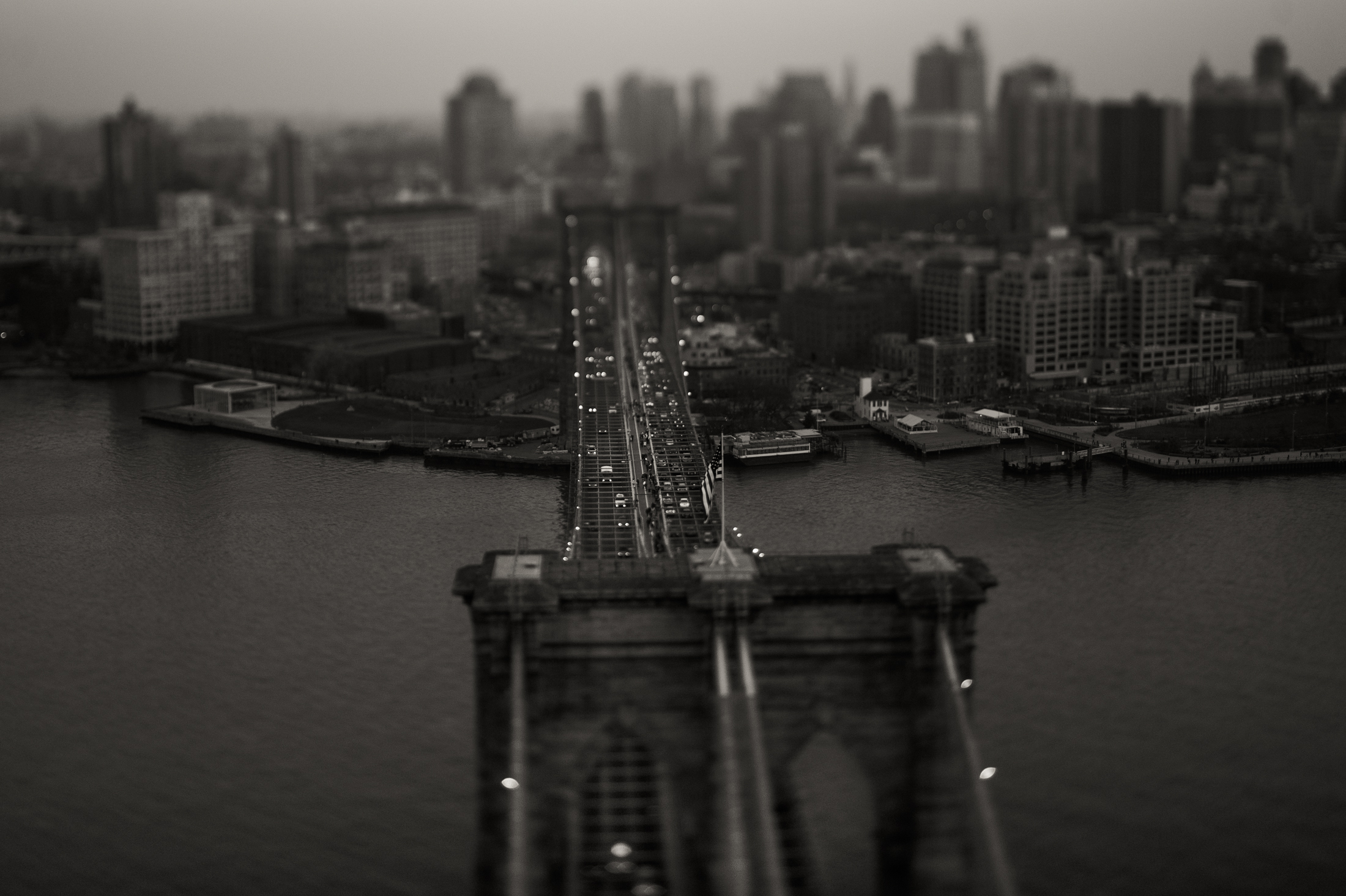 Above the Brooklyn Bridge