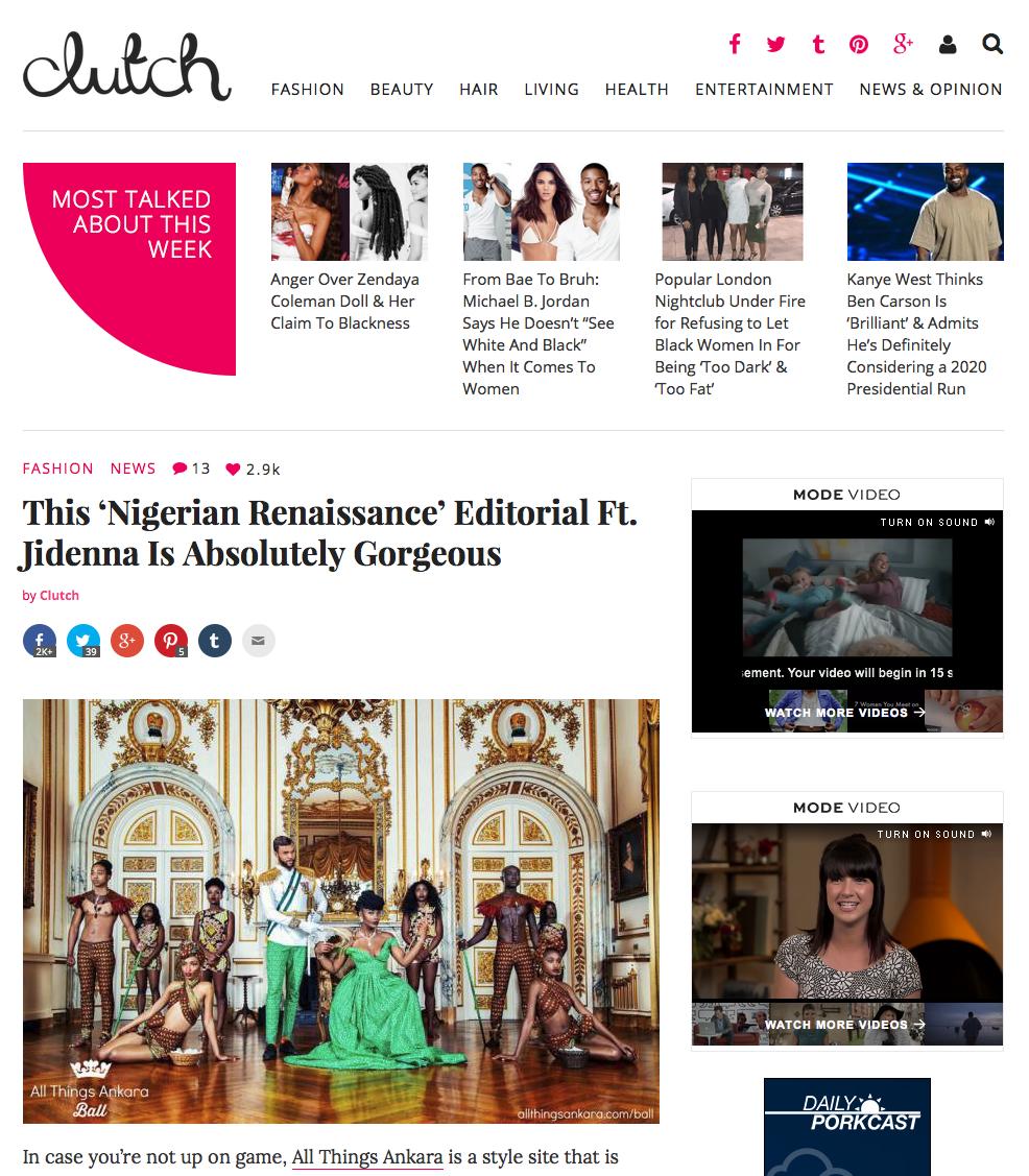 Clutch Magazine Online