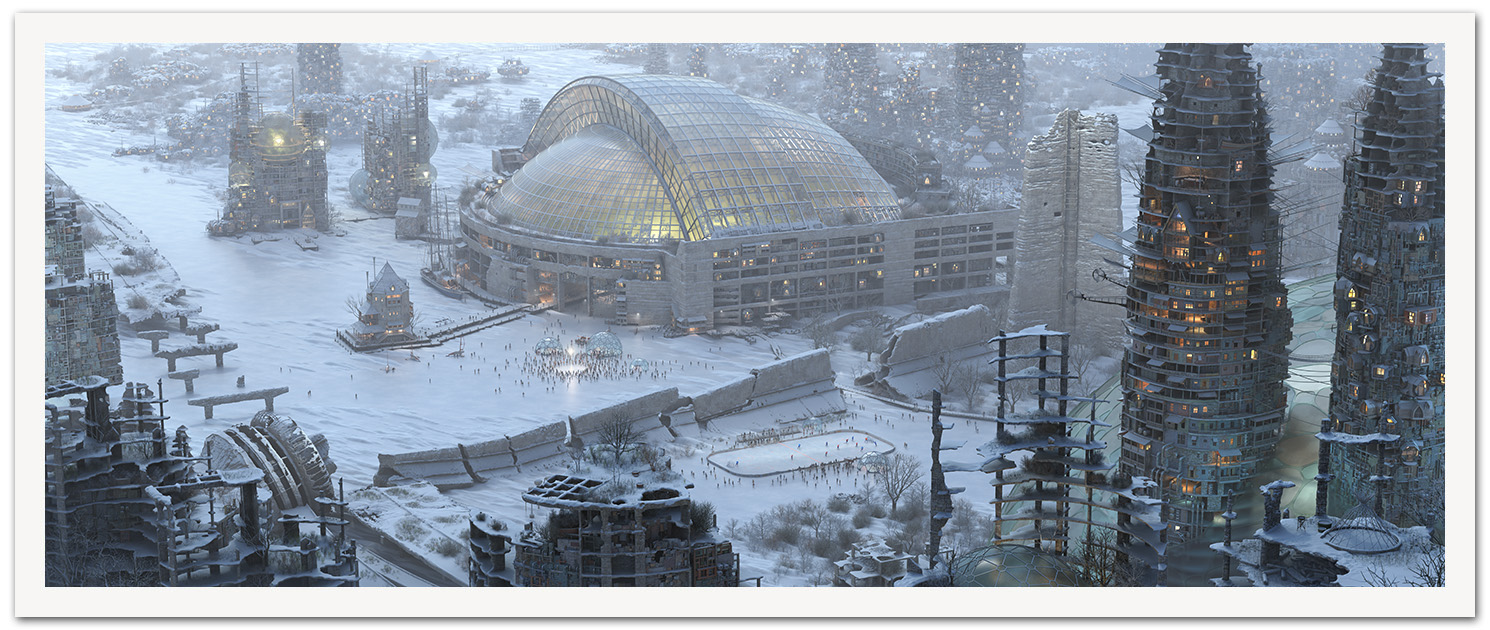 """Winter Version - 36 x 14 inches (with additional 1"""" border for a total of 38 x 16 inches)"""