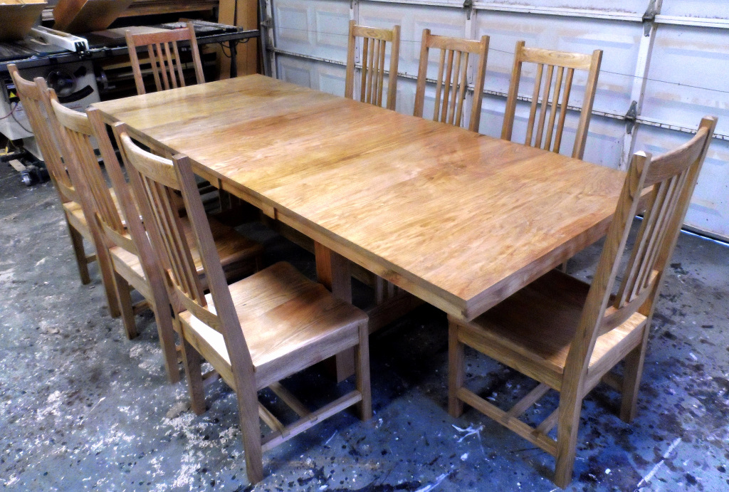 Mission Butternut Dining Table and Chairs.JPG