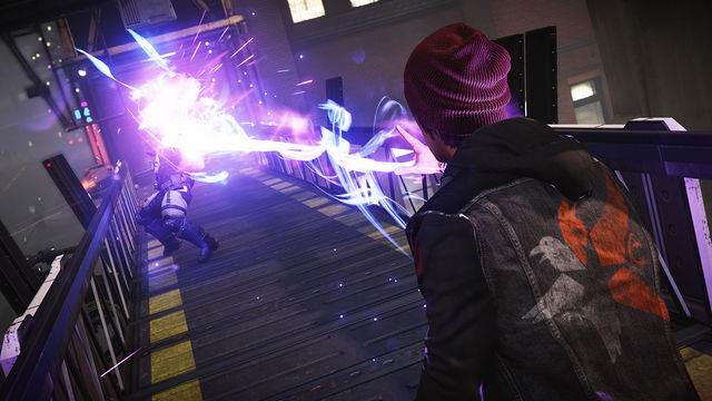 Screenshot of Delsin using one of the 4 powers