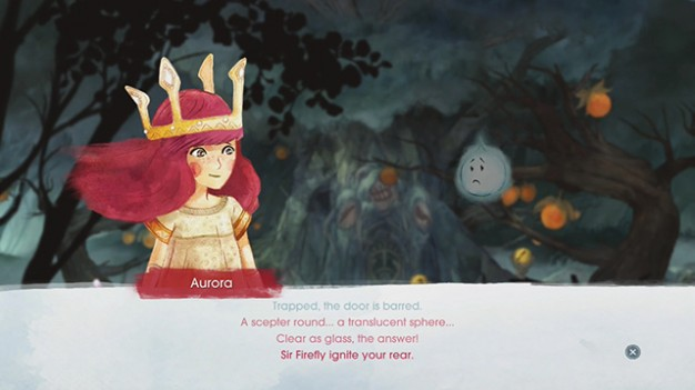 Child of Light's  dialogue rhymes and often entertaining