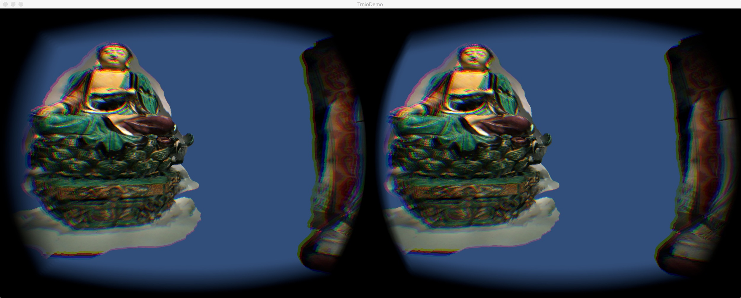 Stereoscopic view of the Trnio demo - looks better with the Oculus