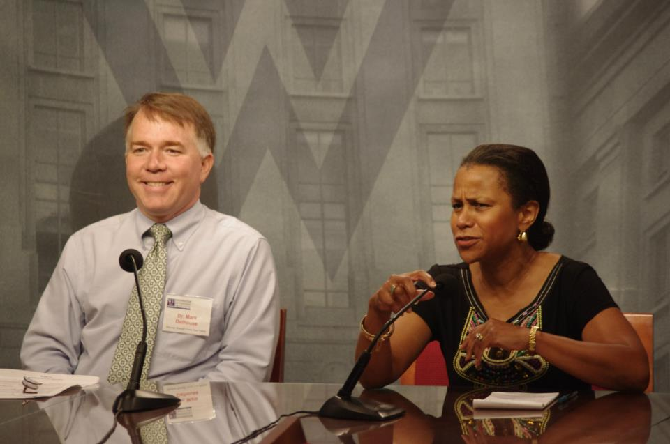 This panel discussion held during WII's fall-semester orientation featured David Halperin, former speechwriter for President Bill Clinton; E.D. Harris, Legislative Assistant to Congresswoman Jo Ann Emerson (R-MO); and Dr. Mark Dalhouse, President of WII.