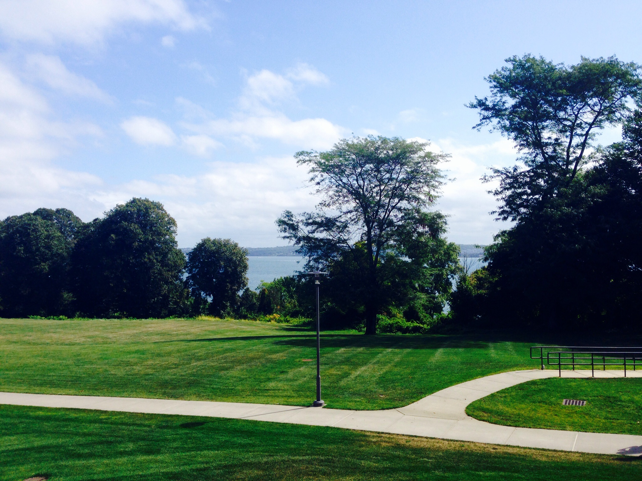 A view from Roger Williams campus.