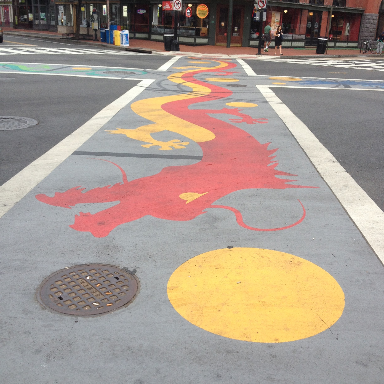 Chinatown Dragon Crosswalk