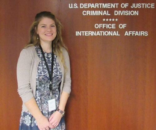 Meighann Mahoney '19, intern at Department of Justice
