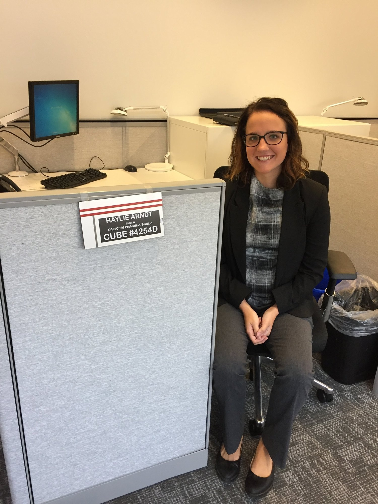 Haylie Arndt '18, Intern IN the Office of the Attorney General