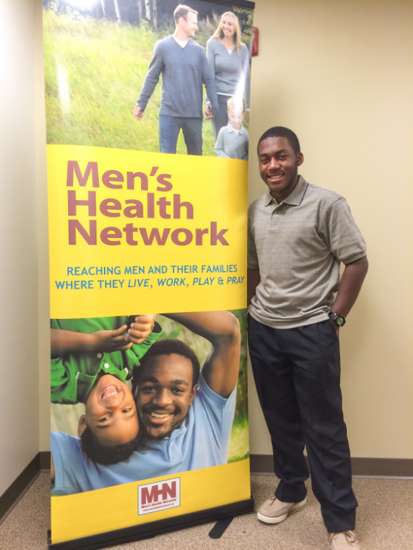 Tyrus Jackson '17, intern at the Men's Health Network