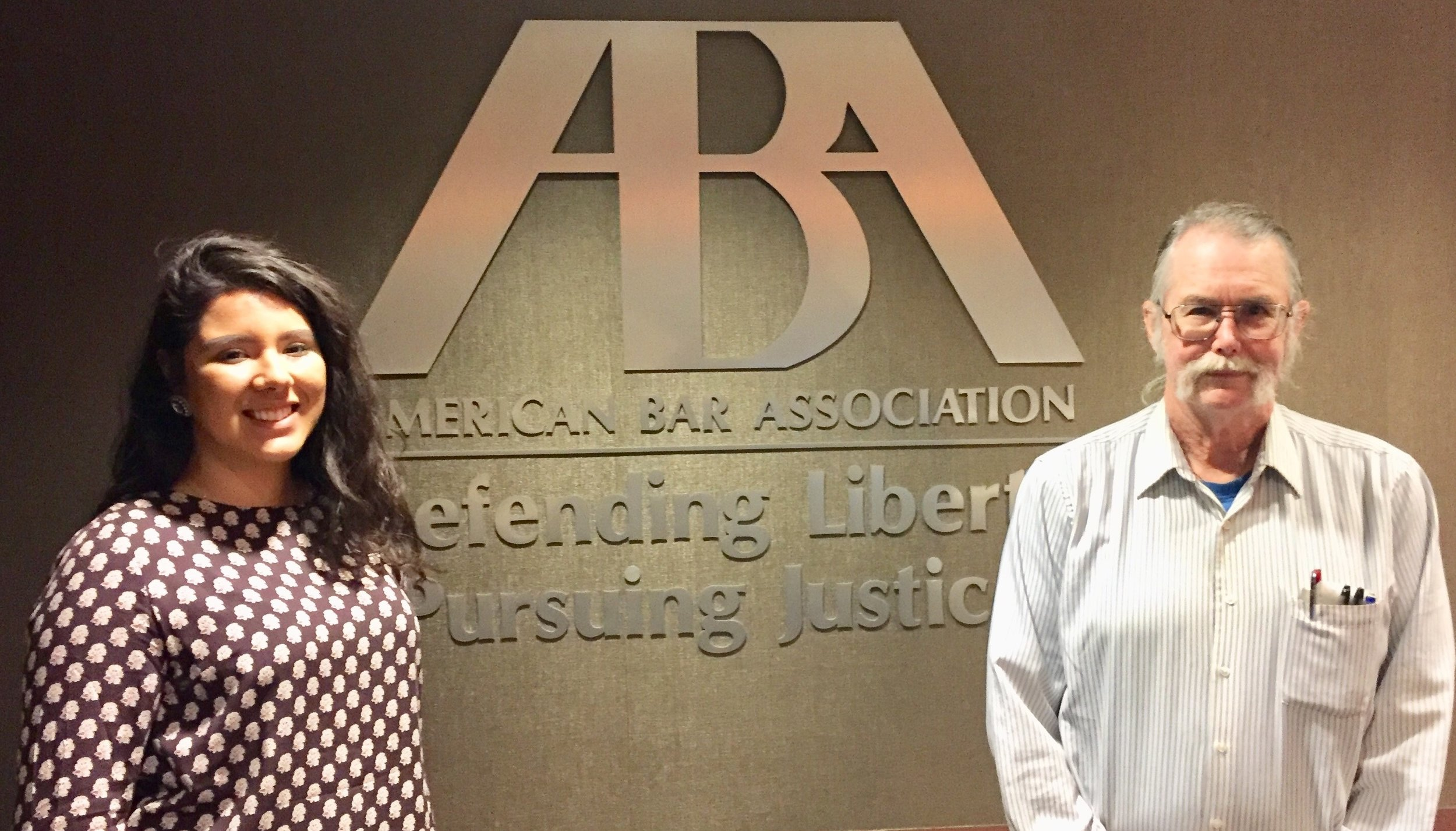 Liz Chavez from Dominican University and her American Bar Association supervisor Bob Lang.